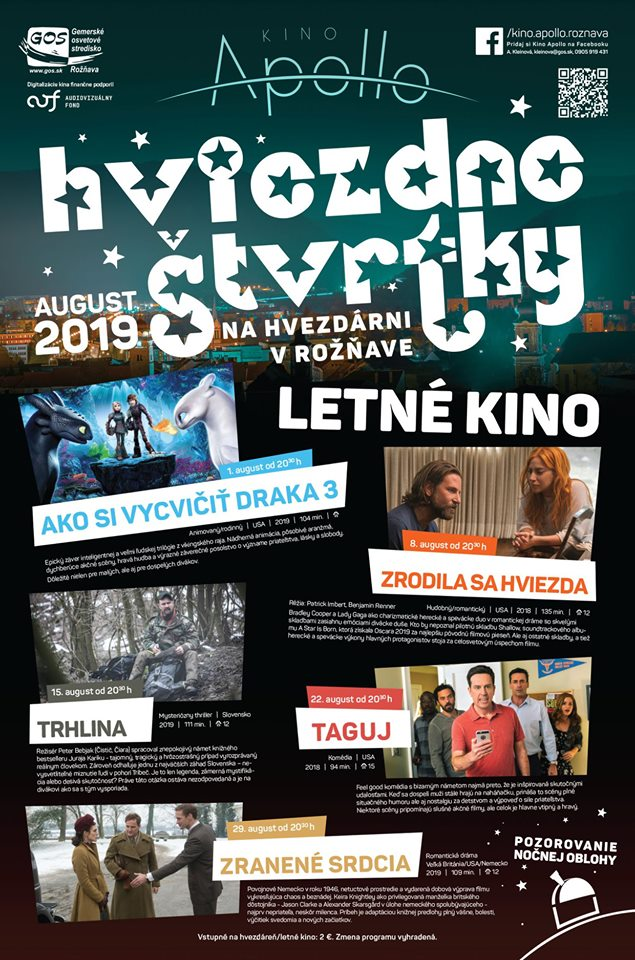 Kino Apollo - program na august 2019